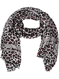 7e39a4139bb74 Zwillingsherz Schal Damen Leo-Print - Eleganter Sommerschal Tuch für Frauen  - Hochwertiges Seidentuch