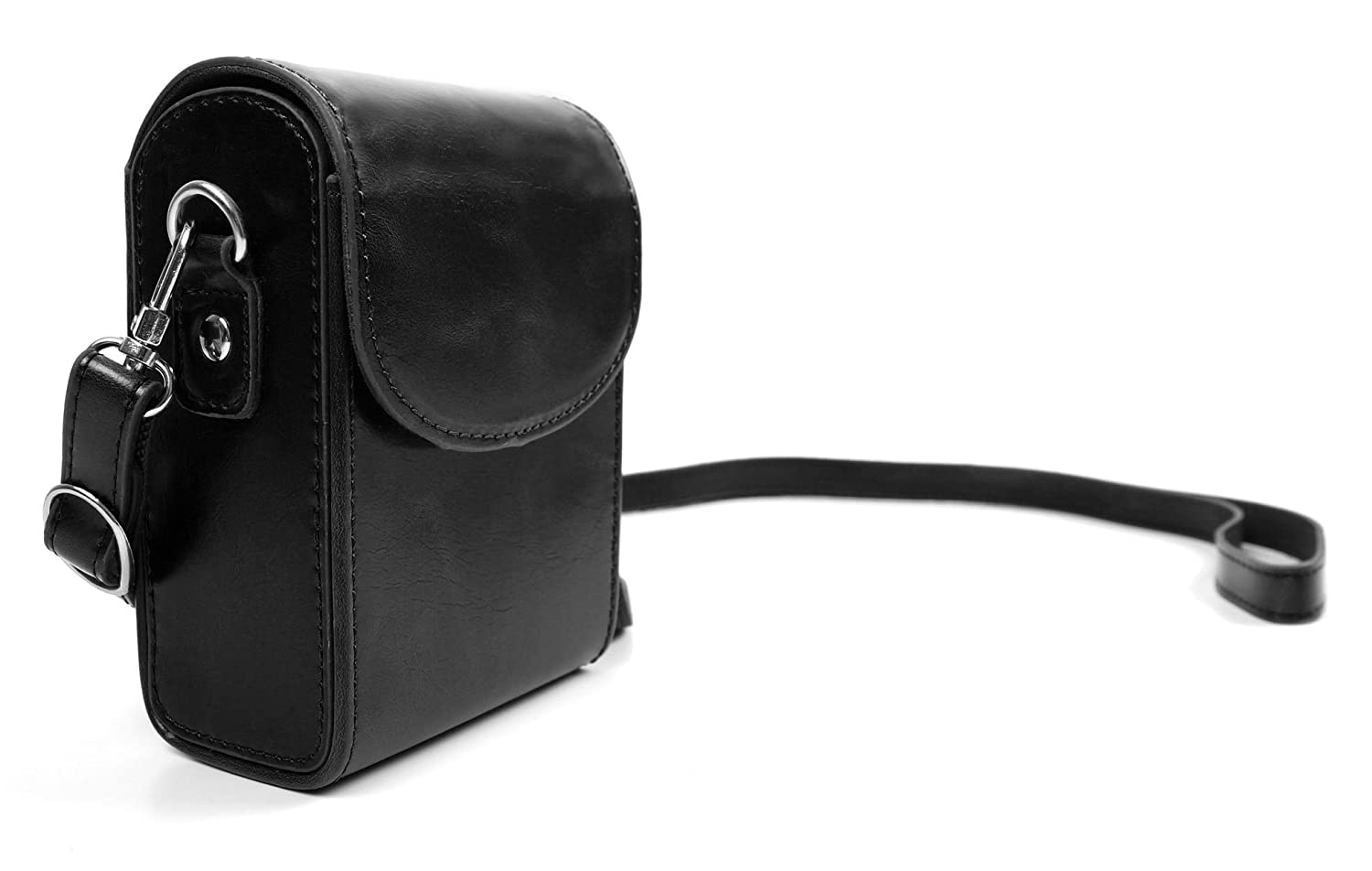 DURAGADGET Exclusiveレトロbox-style Case With Shoulderストラップでブラックフェイクレザーfor the新しいNikon Coolpix s2900 , Coolpix s33、Coolpix s3700、Coolpix s3600、Coolpix s5200 , s6400 , s6500 , s6600 , s6700 , s6800 , s6900 , s9400 & The s9500 B012CUD55C