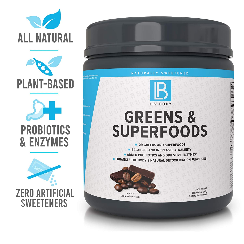 Amazon.com: LIV Body LIV Greens & Superfoods - 28 verdes y ...