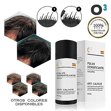 O³ Fibras Capilares Negro 27,5 Gramos Para Caida Del Cabello – Keratin Fibers 100% Natural Para Disimular Calvicie Al Instante| Maquillaje Capilar ...
