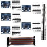 Stemedu 5PCS GY-521 MPU-6050 Accelerometer Gyro Sensor 6DOF 3-Axis IMU 16 Bit AD Converter Data Output IIC I2C for…