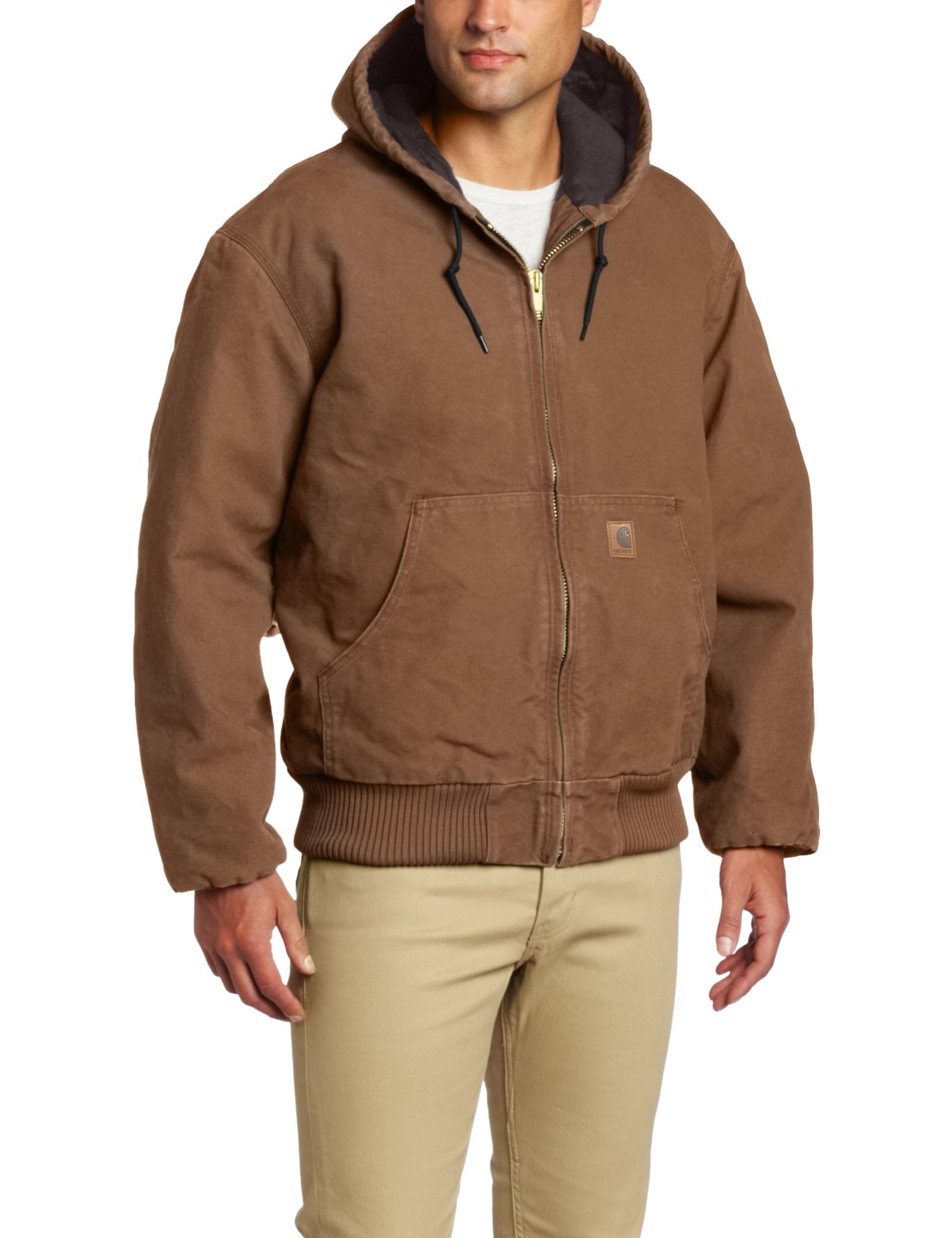 Carhartt Men's Sandstone Active Jacket,Brown  (Closeout),Medium