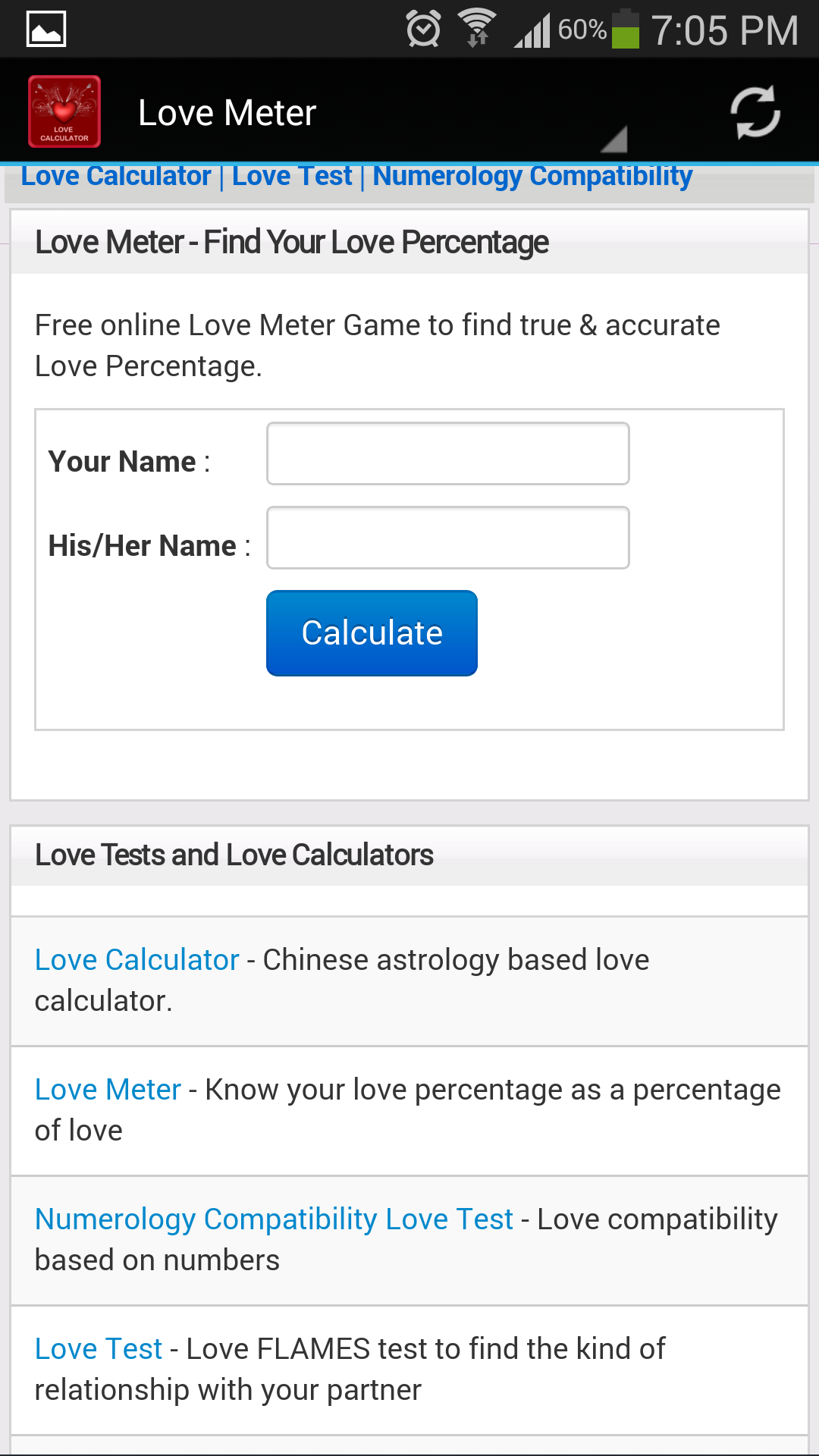 Uncategorized Love Calculator Game Online amazon com love calculator appstore for android 000