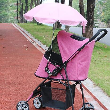 Aoligei Carrito para Mascotas Pet Stroller Sombrilla Carrito Protector Solar Anti-UV Paraguas