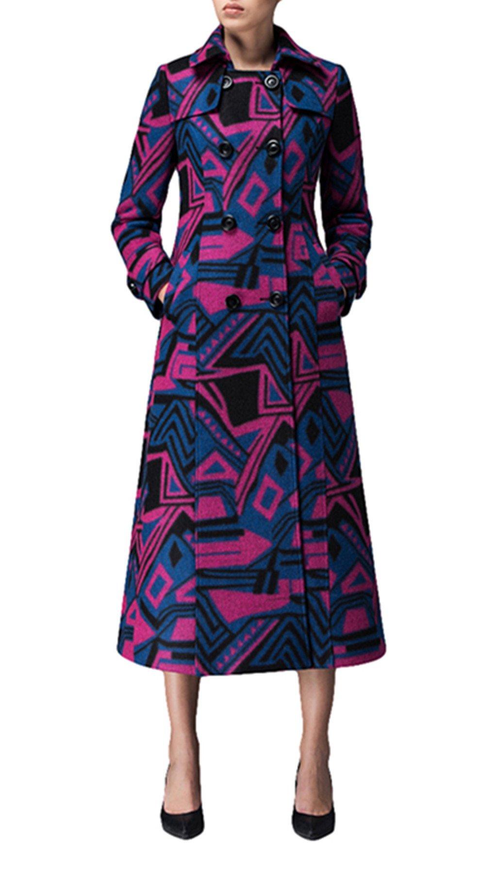 Women's suit collar coat cashmere coat Long Trench Coat Woolen coat (US 6) by PENER