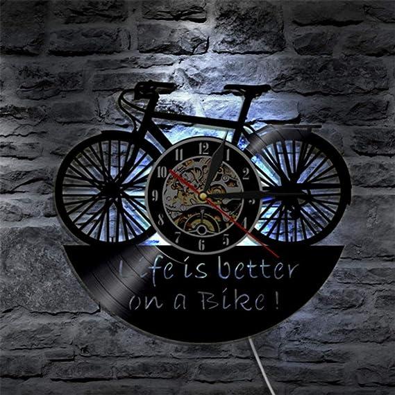 SSCLOCK 1 Pieza Bicicleta Ciclo diseño Vinilo Registro Reloj de ...