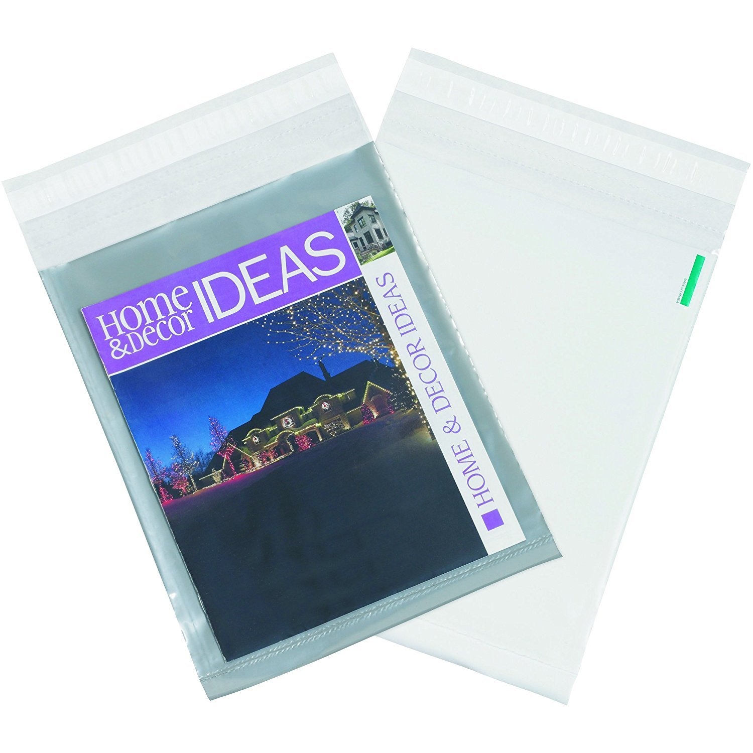 50 Count #3 9 x 12 Inch Oknuu Packaging Supplies Clear View Poly Mailers Self-Sealing Shipping Envelopes Plastic Mailing Bags 2.5 Mil Thickness 9x12 CPM9X12 (50 Pack)
