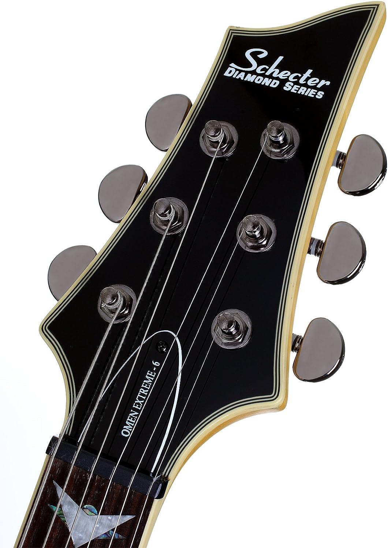 Schecter Omen extreme-6 guitarra eléctrica (negro rojo): Amazon.es ...