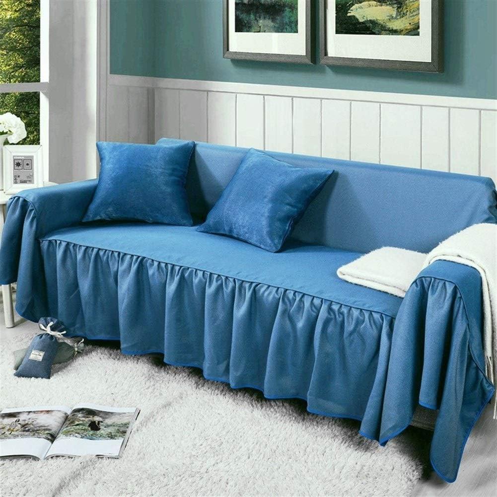 Colore : 2, Size : 200 * 200cm for Single Seat di Spessore A Doppia Faccia con Un Tessuto di Colore Cuscino del Divano Fodera Tratto Slittamento Solido
