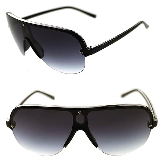 6db4659b278 Men s Hip Hop Shield Stunna Shades Aviator Vintage Retro 80 s Swag Sunglasses  Hip Hop Retro (