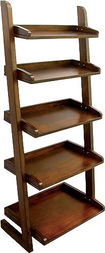 Furniture of America Portio Bookcase Storage Cabinet, Antique Oak