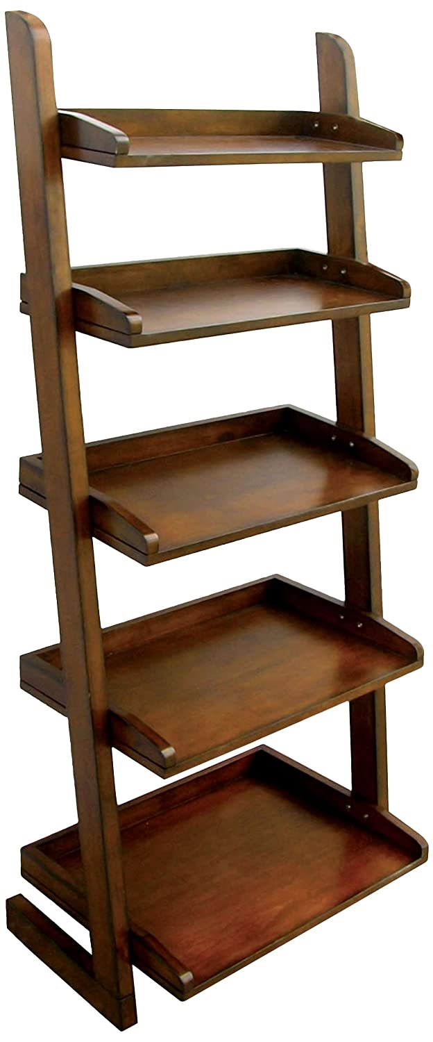 Furniture of America Portio Bookcase/Storage Cabinet, Antique Oak IDF-AC293
