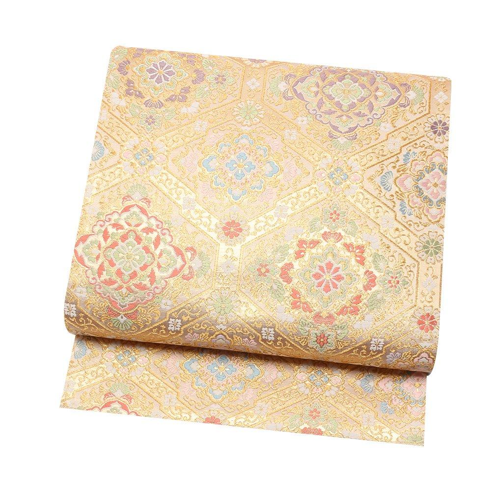 (キステ)Kisste 袋帯 正絹 <お仕立て上がり> 京洛苑たはら謹製:正絹西陣袋帯 <花菱> 六通柄 フォーマル 6-4-00500 B079T1ZH6H