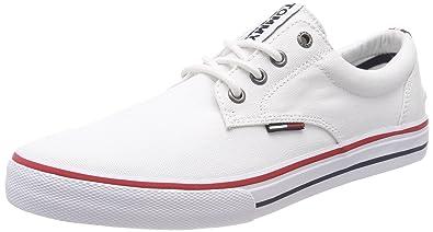 Tommy Jeans Hilfiger Denim Textile Sneaker, Sneakers Basses Homme, Noir (Black 990), 42 EU