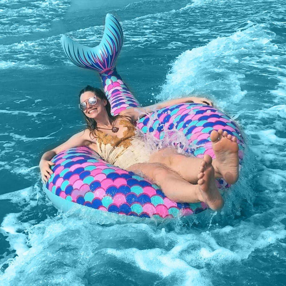 Meerjungfrau Schwimmring Riesen Pool Float Wasserspielzeug Matratze Fisch Schwanz Schwimmen Spielzeug Für Sommer Party Amazon De Spielzeug