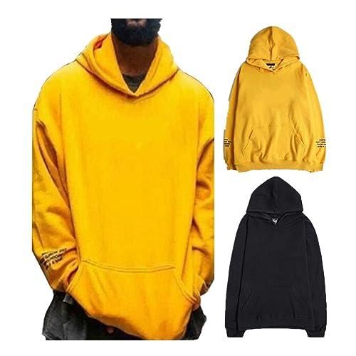 Tour sudadera con capucha de seguridad amarillo negro de los hombres de las mujeres de la moda