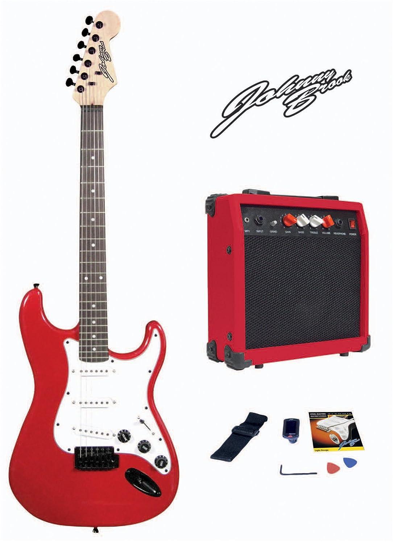 Johnny Brook Electric Guitar Kit with 20W Amplifier (FULL KIT) (Sunburst) MP Essentials