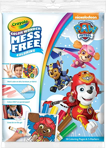 Amazon.com: Crayola Paw Patrol Color Wonder Coloring Pad & Markers, Mess  Free, Ages 3,4,5: Toys & Games