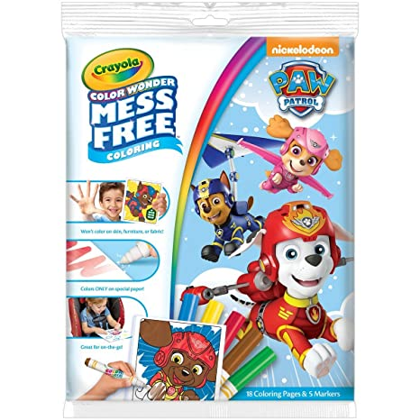 Crayola Paw Patrol Color Wonder Coloring Pad & Markers, Mess Free, Ages  3,4,5