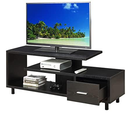 Convenience Concepts 151750BL Seal II TV Stand, 60-Inch, Black,