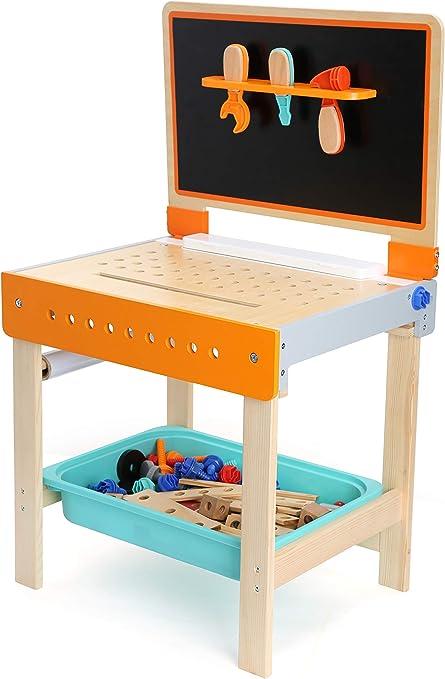 Small Foot 10603 Werkbank Und Maltisch Als 2 In 1 Spielzeug Aus Holz Amazon De Spielzeug