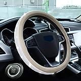 HAOKAI New Premium Car Bling Steering Wheel Cover for Women Girls, 15 Inch Universal Diamond Leather Steering Wheel…