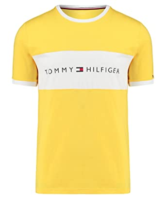 86d7acb732e09 Tommy Hilfiger Men's UM0UM00561 Pyjama Top - Blue - Large: Amazon.co.uk:  Clothing
