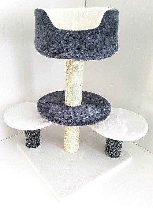 Lemio – Rascador para Gatos Turn – Árbol para Gatos – Muebles para Gatos (Gris