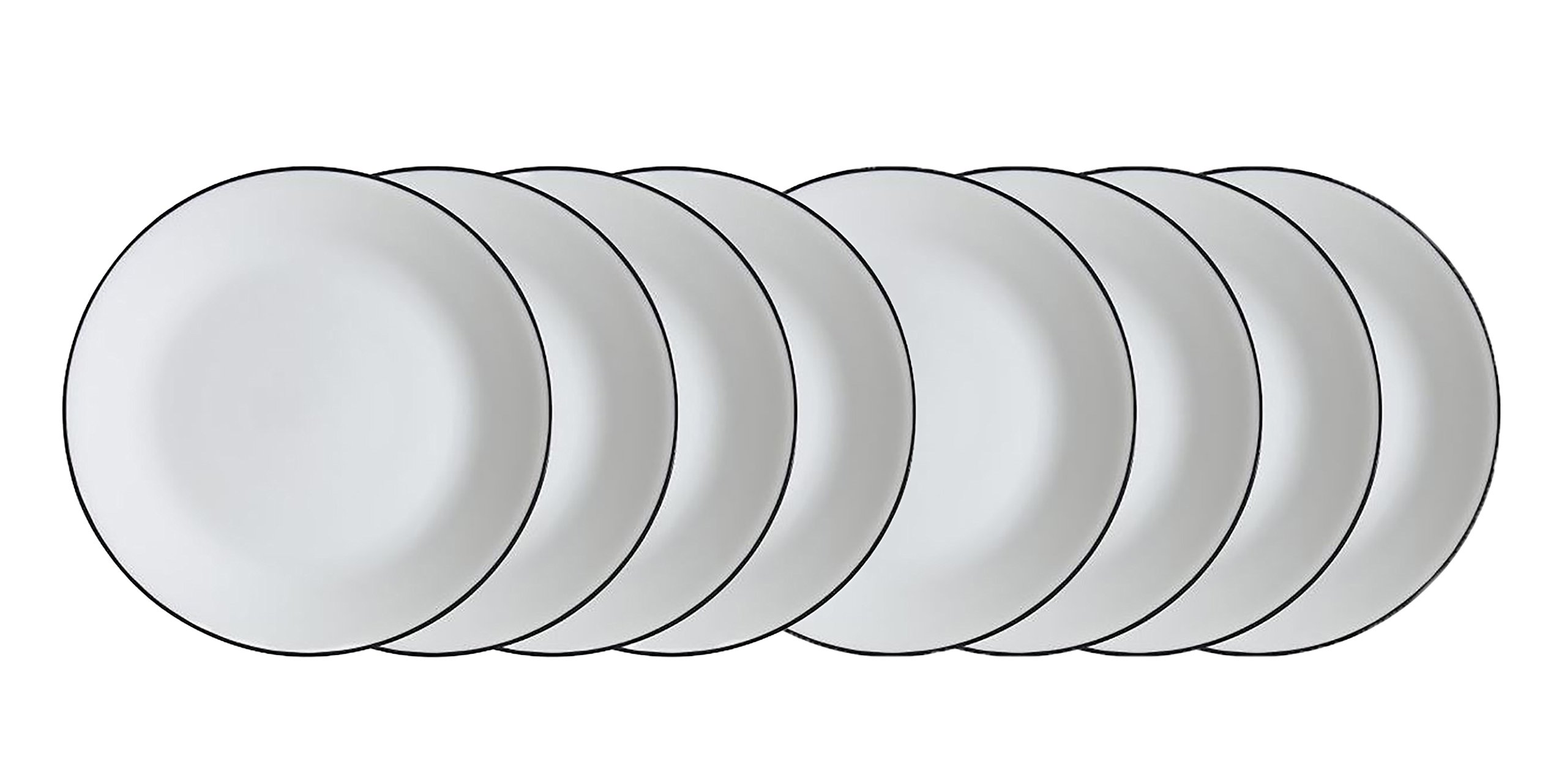 Corelle Livingware Brilliant Black 10.25 Dinner Plates - Set of 8 (10.25)