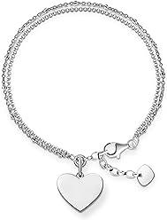 Thomas Sabo KA0002 - 001-12-l16 Blackened Silver Bracelet Beads Approximately 16 cm MvymBDJQi1
