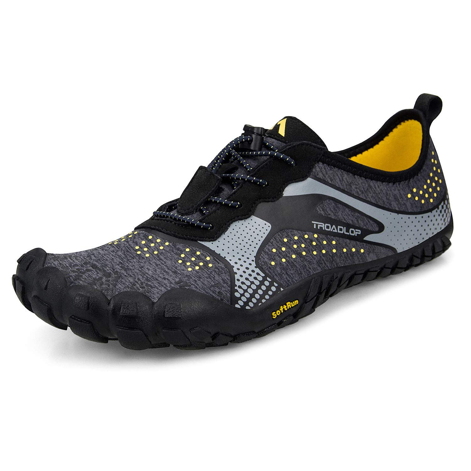 03872463c09 Troadlop Men s Trail Running Shoes Lightweight Breathable Non Slip Barefoot  Sneakers Black Grey Size 8