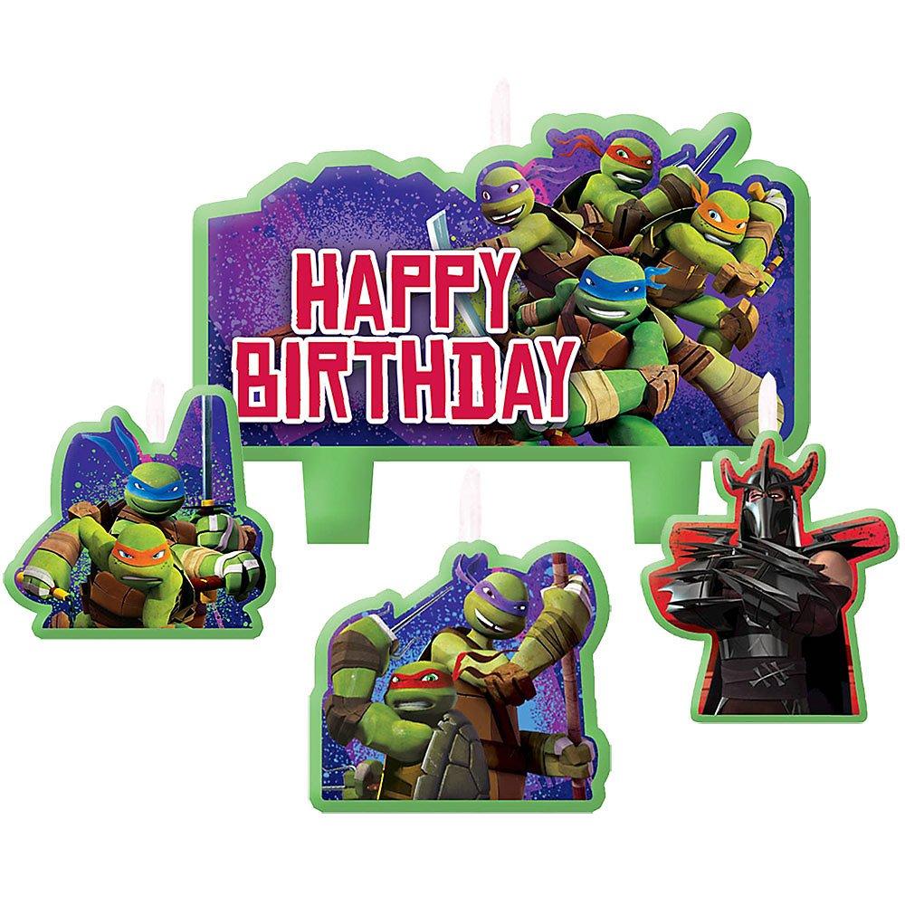 Ninja Turtles Mini velas de cumpleaños moldeadas (4 unidades ...