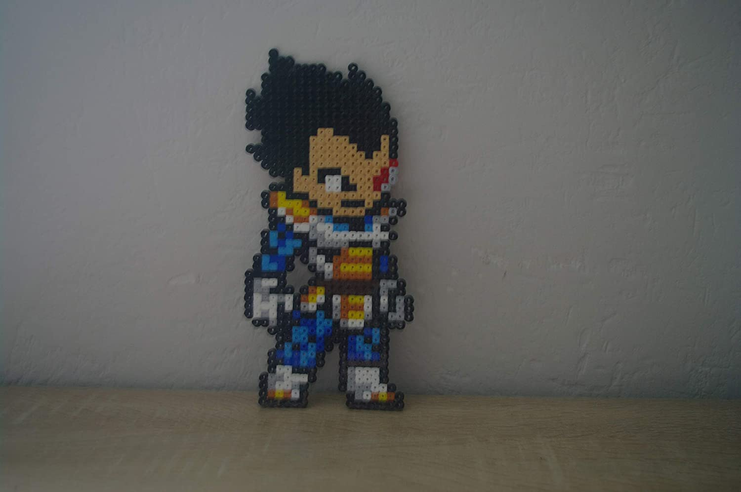Amazon Com Sprite Vegeta Dragon Ball Z Hama Beads Pixel Art Perler Bead Handmade