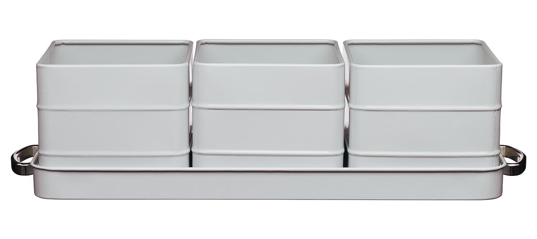 Kitchencraft Living Nostalgia Indoor Metal Herb Pots And Tray Set