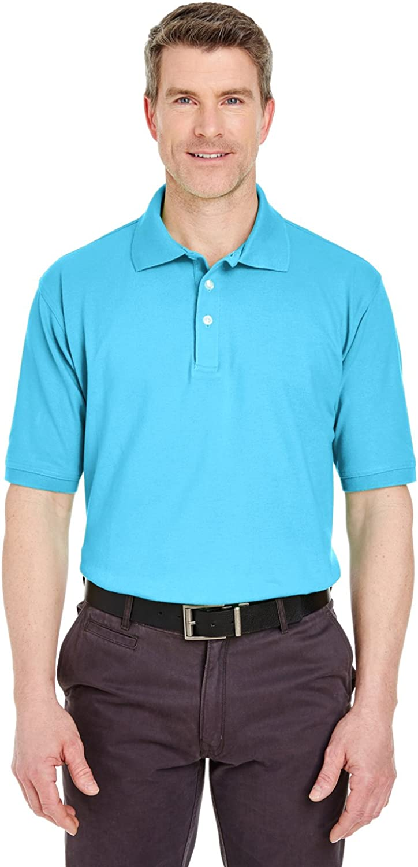 UltraClub 7500 Mens Solid Classic Platinum Polo Sport Shirt