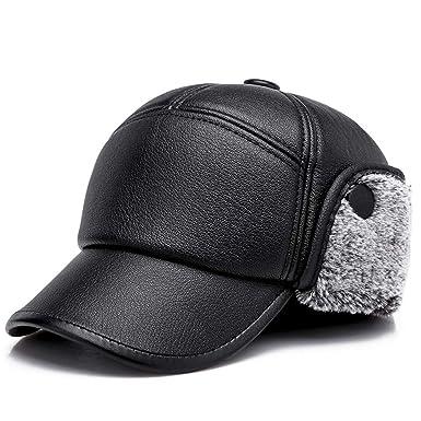 Culer El invierno caliente del cuero de la PU de la gorra de béisbol del sombrero con orejeras Elmer Gruñón Militar Trapper Sombrero (gris): Amazon.es: Ropa ...