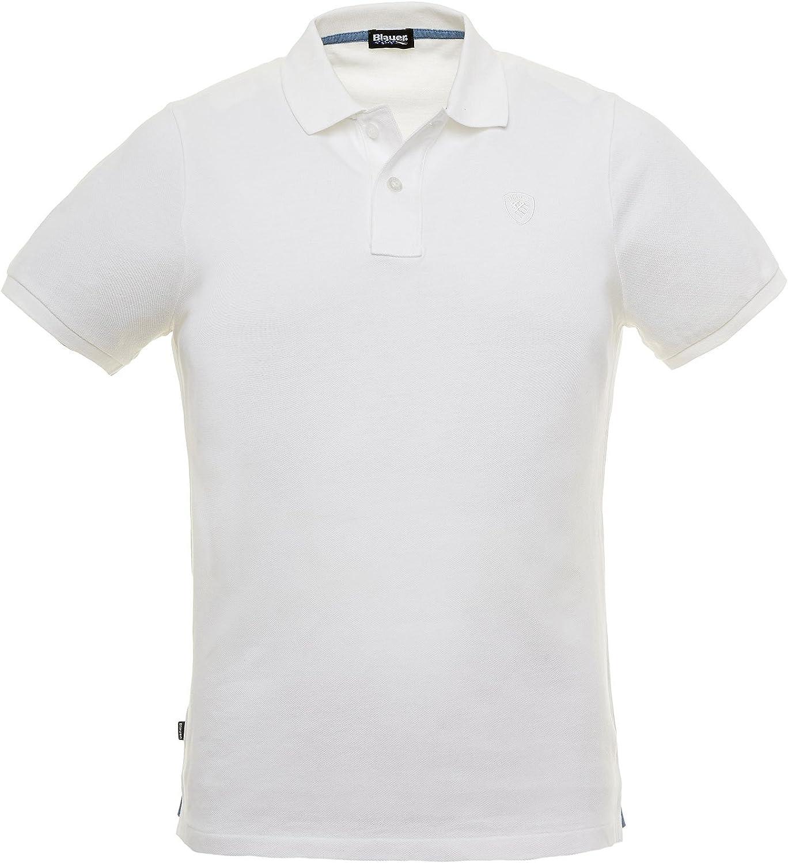 Blauer - Polo - para Hombre Bianco S: Amazon.es: Ropa y accesorios