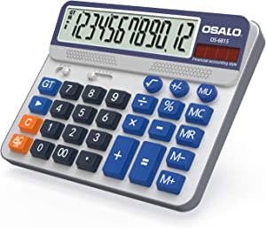 Pendancy Large LCD Display Button 12 Digits Desktop Calculator(6815)