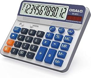 Pendancy Large LCD Display Button 12 Digits Desktop Calculator(6815)