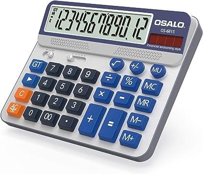 Pendancy Large LCD Display Button 12 Digits Desktop Calculator(OS-6815)