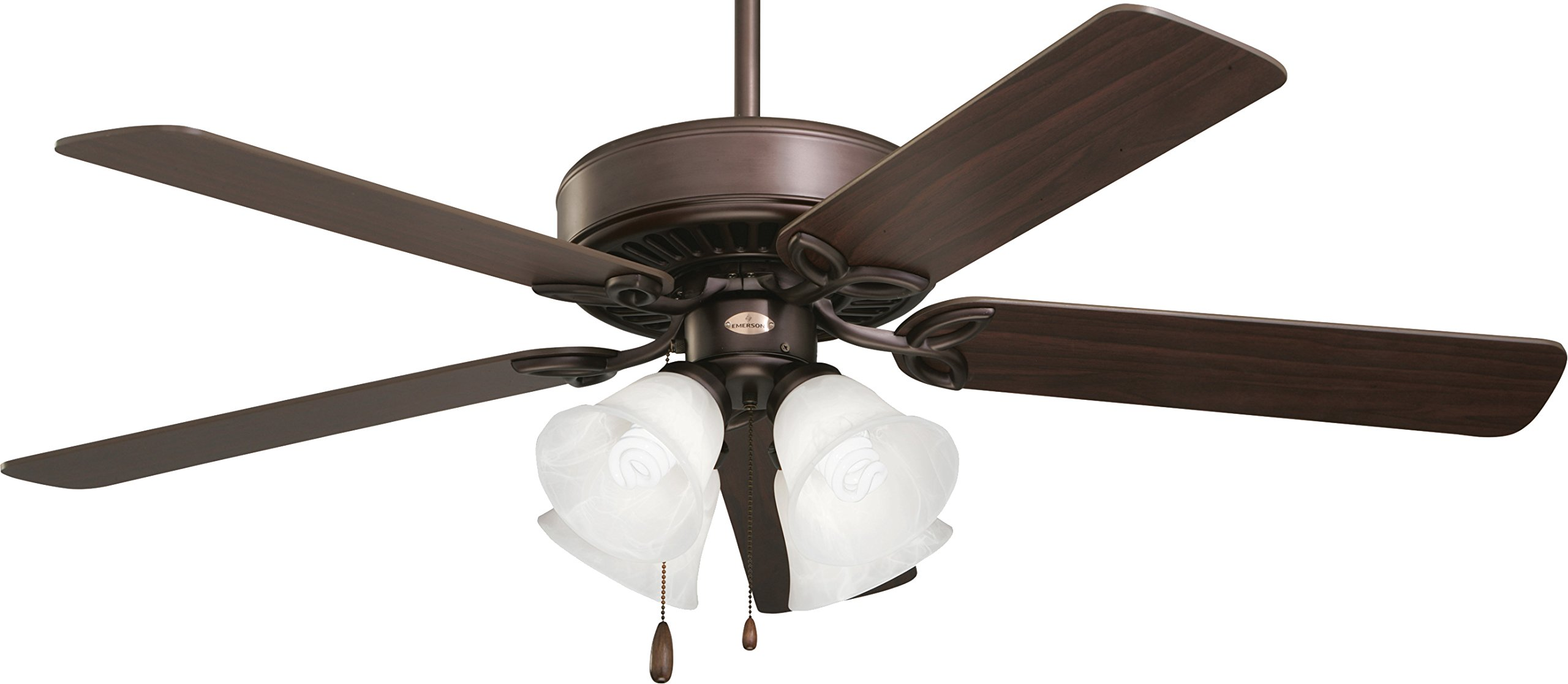 Emerson CF711ORB, Pro Series II Oil-Rubbed Bronze 50'' Ceiling Fan with Light
