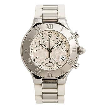 98cb0cd75f8 Amazon.com: Cartier Must 21 Quartz Female Watch W10184U2 (Certified ...