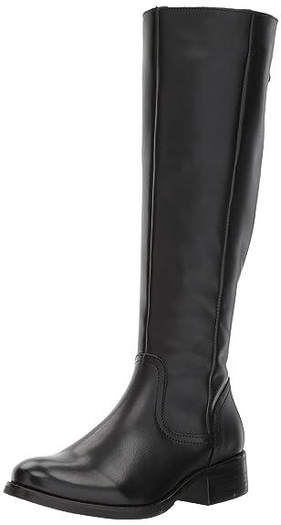 Steve Madden Women's Lover Western Boot, Black Leather, ...