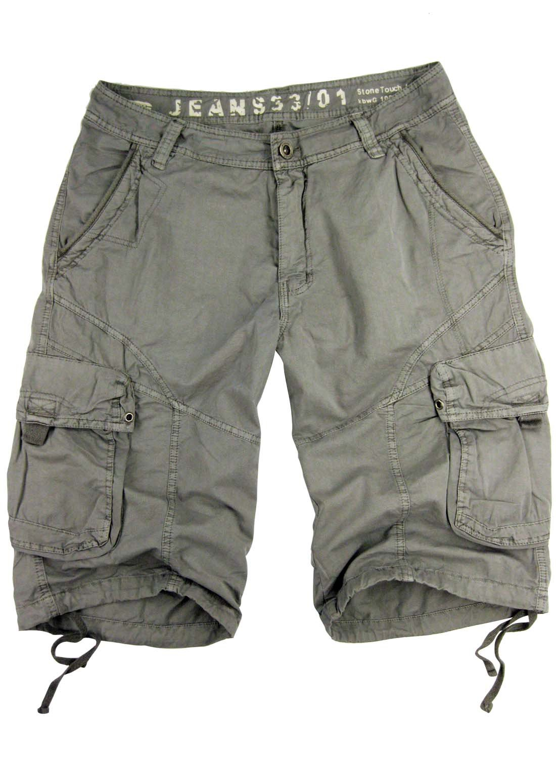 STONE TOUCH Mens Military-Style Light Grey Cargo Shorts #27s Size 50