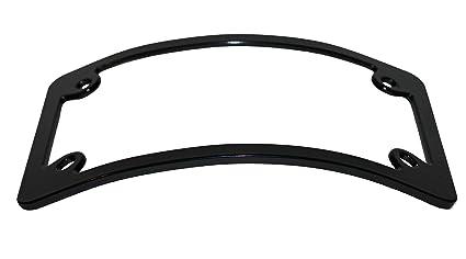 Curved Motorcycle License Plate Frame - Black  sc 1 st  Amazon.com & Amazon.com: Curved Motorcycle License Plate Frame - Black: Automotive