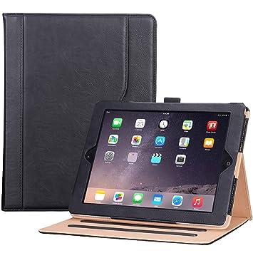 ProCase Funda PU iPad 2 3 4 (Modelo Viejo) - Carcasa Folio con Soporte Múltiple Ángulo/Portalápiz/Activación Suspensión Automática para iPad 2/iPad ...