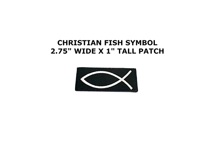 Amazon Embroidered Iron On Patch Black White Christian