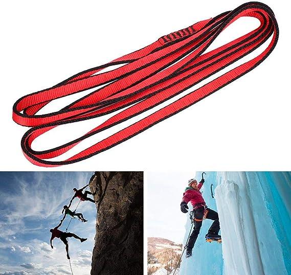 Tbest Cuerda de montañismo, Cuerda de Escalada, Cuerda Plana de Escalada, montañismo, Escalada, Soporte de Carga, Correa de Correa Plana, Cuerda de ...