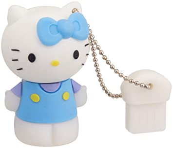 Amazon.com: 8 GB Azul Hello Kitty unidad flash USB memory ...