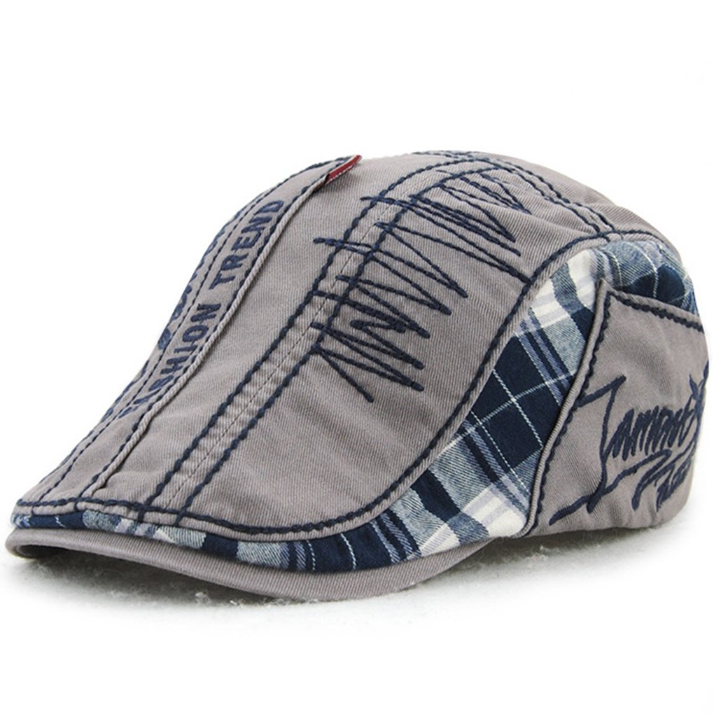 Bobury Unisex Beret Cap Mixed Color para Hombres y Mujeres Sun Hat Flat Caps Boinas